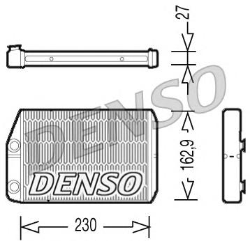 DRR09034 Радиатор отопителя FIAT DUCATO/PEUGEOT BOXER/CITROEN JUMPER 2.0TD-3.0TD 06-