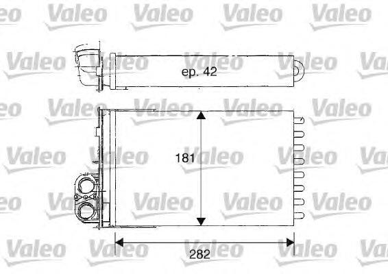 812181 Радиатор отопителя PEUGEOT: 406 (8B) 1.6/1.8/1.8 16V/1.9 D/1.9 TD/2.0 16V/2.0 16V HPi/2.0 HDI 110/2.0 HDI 90/2.0 Turbo/2.