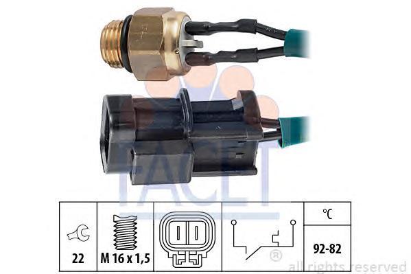 75060 Датчик включения вентилятора NISSAN: BLUEBIRD (T72, T12) 1.6/1.8 Turbo/1.8 i 16V (RLT72)/2.0 (T12)/2.0 D (SLT72, T12)/2.0