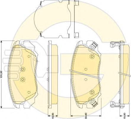 """6117829 Колодки тормозные OPEL INSIGNIA 08-/SAAB 9-5 10- R16"""" передние"""