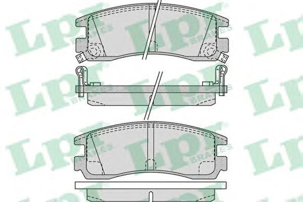 05P1031 Колодки тормозные OPEL SINTRA 96-99/CADILLAC SEVILLE 97- задние