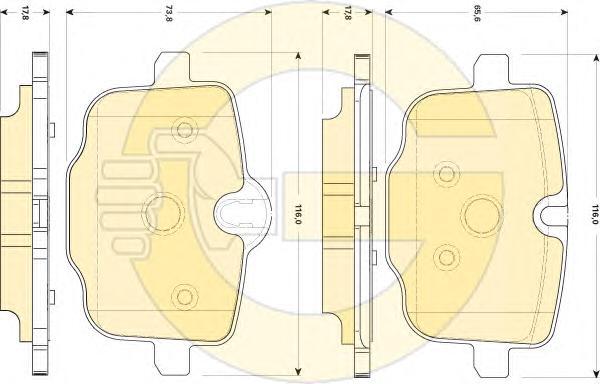 6118691 Колодки тормозные BMW 5 F10/F11 3.0-4.4 10- задние