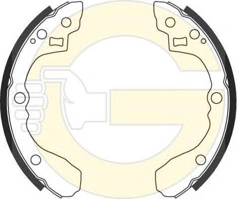 5186929 Колодки торм.бар.KIA SPECTRA(ИЖ)/SEPHIA/SHUMA задние (D=200mm)