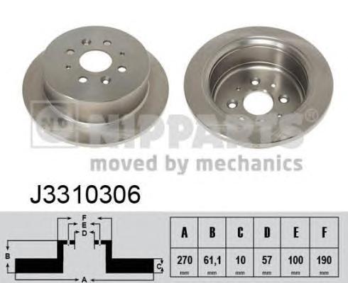 j3310306 Тормозной диск