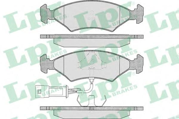 05P327 Колодки тормозные дисковые передн FORD: ESCORT III 80-86, ESCORT III кабрио 83-85, ESCORT IV 85-90, ESCORT IV кабрио 86-9