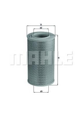 LX611 Фильтр воздушный PEUGEOT BOXER/FIAT DUCATO/CITROEN JUMPER 1.9D-2.8D