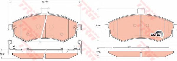 GDB3378 Колодки тормозные HYUNDAI ELANTRA/MATRIX 1.5-2.0 00- передние