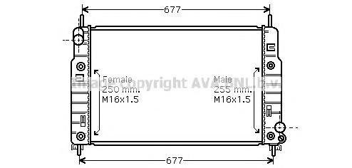 FD2223 Радиатор системы охлаждения FORD: COUGAR (EC_) 2.0 16V 98 - 01 , MONDEO I (GBP) 1.6 i 16V/1.8 i 16V/1.8 i 16V 4x4/2.0 i 1