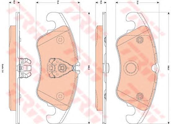 GDB1833 Колодки тормозные FORD FOCUS II 2.5 RS 09- передние