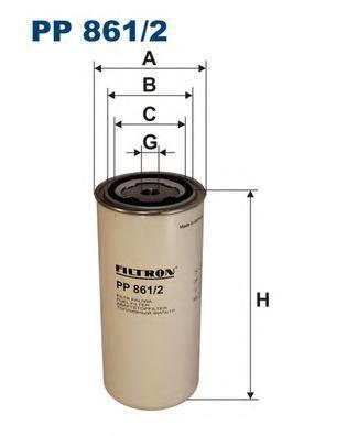 PP8612 Фильтр топливный DAF/RVI