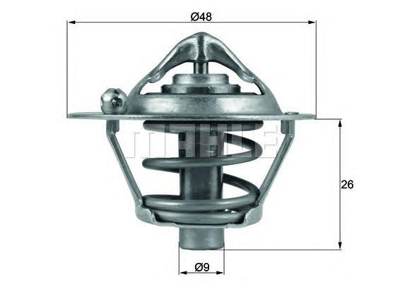 TX10882D Термостат FO 1.6L Zetec-S, Duratec EFI (100PS)