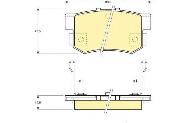 6107749 Колодки тормозные HONDA ACCORD 90-/CIVIC 97-/CR-V II/FR-V/PRELUDE 92-00 задние