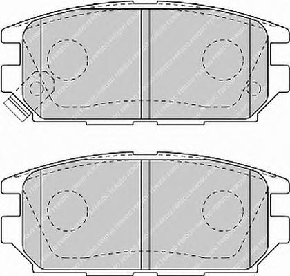 FDB1507 Колодки тормозные MITSUBISHI GALANT 92-96/LANCER 94-03/SPACE WAGON 98- задние