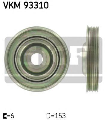 VKM93310 Шкив к/вала 2.0D PSA, Ford, Volvo, Fiat