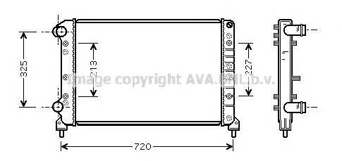 FTA2261 Радиатор FIAT DOBLO 1.4-1.9 01-