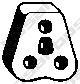 255044 Подвеска глушителя HYUNDAI ACCENT/VERNA 06-/GRAND STAREX 07-/KIA RIO 06-