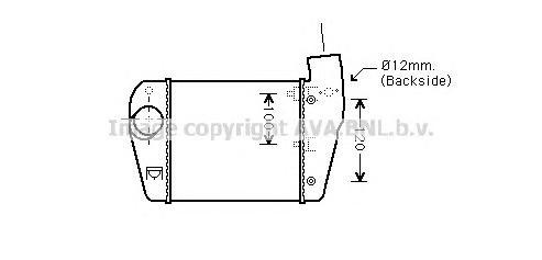 AIA4350 Интеркулер AUDI A6 2.0 TDI/2.0 TFSI 04-