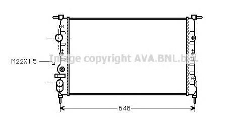 RT2198 Радиатор RENAULT MEGANE 1.6/2.0/1.9D 96-