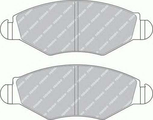 FDB1378 Колодки тормозные PEUGEOT 206/206SW 01(-ABS) передние