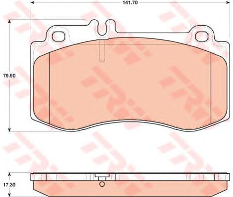 GDB1822 Колодки тормозные MERCEDES W212/218 09- передние