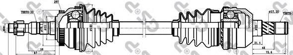 244039 Привод в сборе OPEL VECTRA B 1.6-2.5 95-03 прав. +ABS