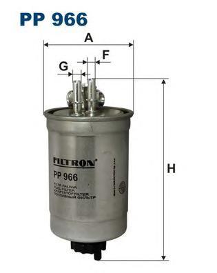 PP966 Фильтр топливный FIAT DOBLO/PUNTO 1.9 D 01-