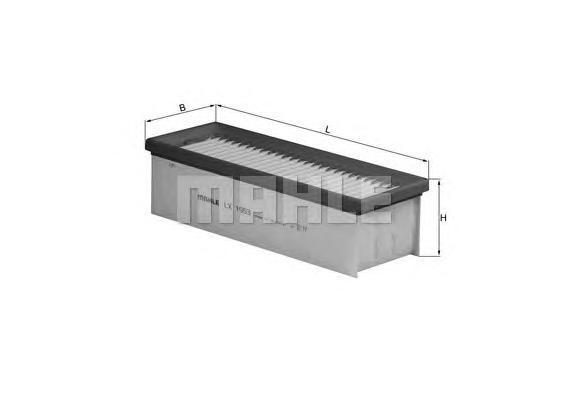LX1953 Фильтр воздушный RENAULT DUSTER 1.5D 10-