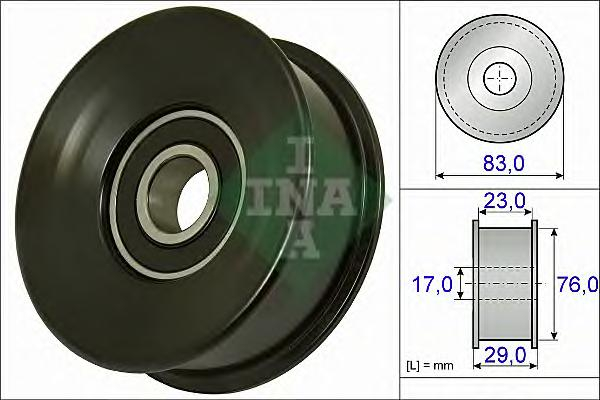 532073010 Ролик ремня приводного LAND ROVER DEFENDER 2.2D/2.4D 07-