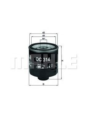 OC314 Фильтр масляный VW LUPO/SKODA FABIA