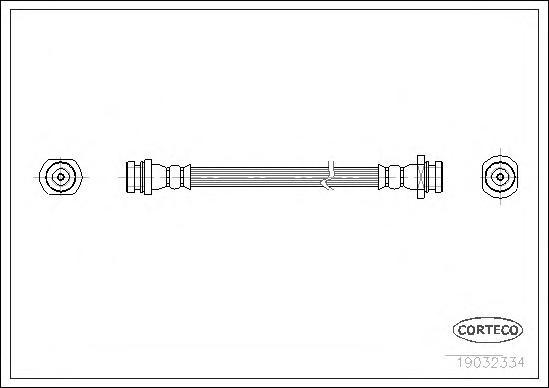 19032334 Шланг торм. Re 300мм SUZ Vitara
