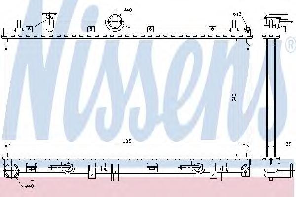 67716 Радиатор SUBARU FORESTER 2.5 08-
