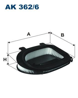 AK3626 Фильтр воздушный BMW F25/E70/E71 2.0D/3.0D 10-