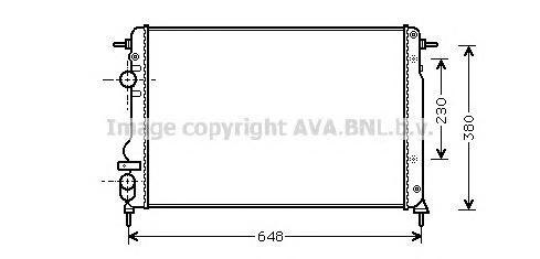 RTA2312 Радиатор RENAULT MEGANE 1.4-1.8 96-