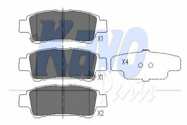 KBP9014 Колодки тормозные TOYOTA AVENSIS VERSO 2.0 01-/PREVIA 2.0-2.4 00- задние