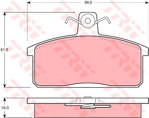 gdb1165 Комплект тормозных колодок, дисковый тормоз
