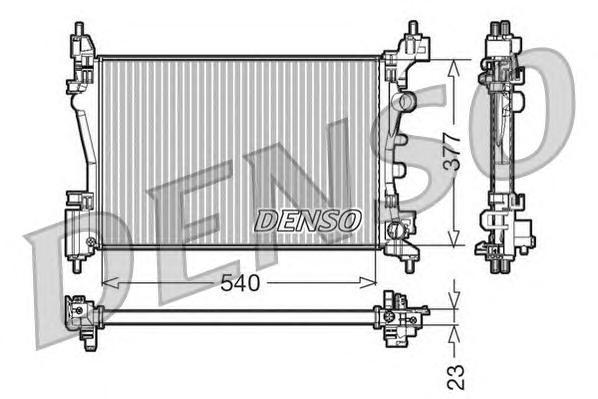 DRM20095 Радиатор OPEL CORSA D 1.0/1.4 06-