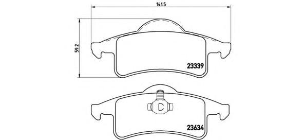 P37006 Колодки тормозные JEEP CHEROKEE 88-01/GRAND CHEROKEE 99-05 задние