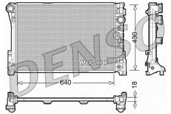 DRM17005 Радиатор MB W204 1.6/2.5 A/T 07-