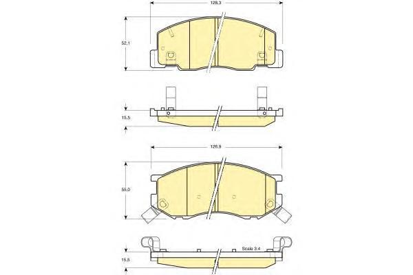 6131579 Колодки тормозные TOYOTA PREVIA 2.4 96-00 передние