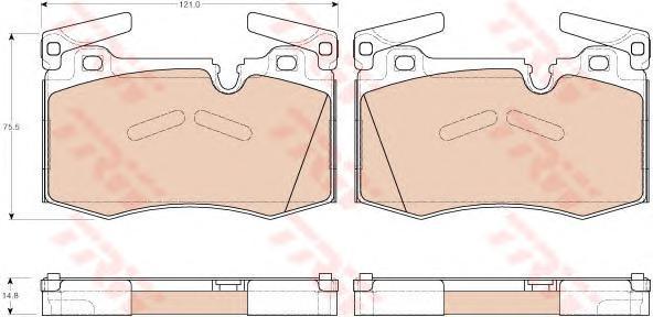 GDB1948 Колодки тормозные MINI COOPER/ONE 07- передние