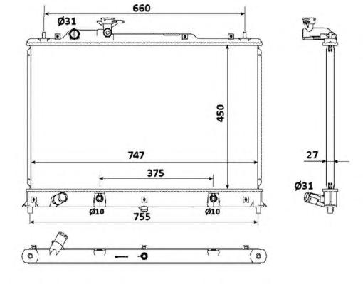 53904 Радиатор MA CX7 2.3i AUT. 06-