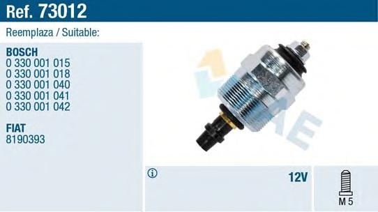 73012 Клапан э/м ТНВД FIAT