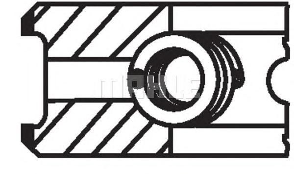 02201N0 Кольца поршневые 1шт RENAULT MEGANE 1.5dCi K9K =76 2x2x2.5 std 01