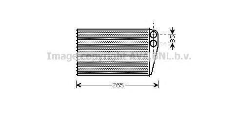 RT6354 Радиатор отопителя RENAULT: GRAND SC?NIC (JM0/1_) 1.9 dCi 04 - , MEGANE Cabriolet (EA0/1_) 2.0 16V/2.0 16V IDE (EA03, EA0
