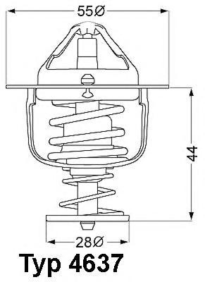463776D Термостат (с прокладкой) FORD: MAVERICK 93-98  MITSUBISHI: COLT V 95-05, LANCER IV 88-94, LANCER V 92-95, LANCER V Stati