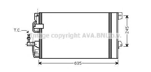OL5390 Конденсер OPEL ASTRA G / ZAFIRA A 1.4/1.6/1.8/2.0/2.2/2.0DI 02-