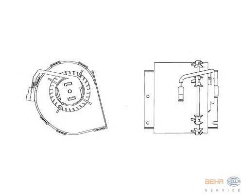 8EW009158511 Вентилятор радиатора MERCEDES SPRINTER 06- дополнительный