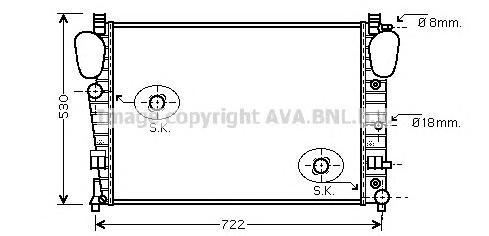 MSA2309 Радиатор MB W220 5.5-6.5/3.2D/4.0D 99-06