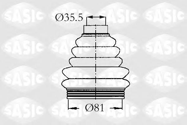 2933203 Пыльник ШРУСа CITROEN С4/PEUGEOT 206-307 наруж.