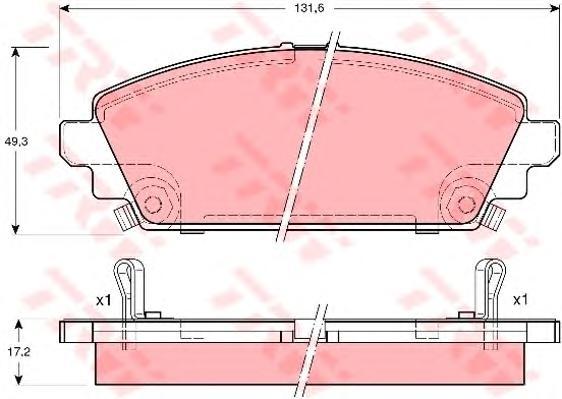 GDB3189 Колодки тормозные HONDA ACCORD 1.6 98-02 передние